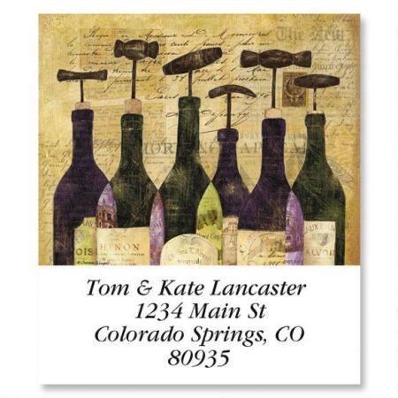 Wine Bottles Select Return Address Labels  (6 Designs)