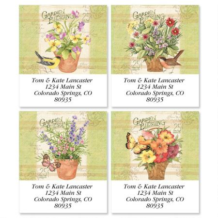 Floral Display Select Return Address Labels  (4 Designs)
