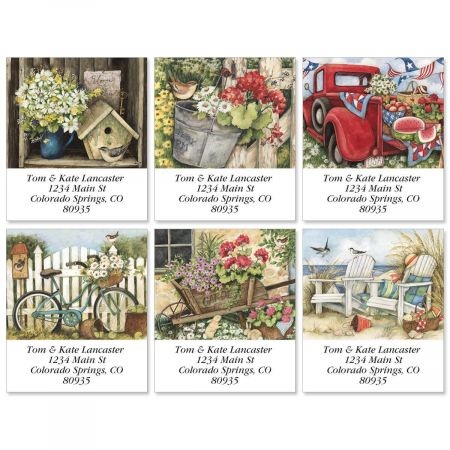 Simple Times Select Return Address Labels  (6 Designs)