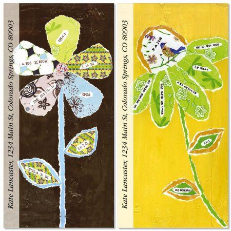 Faith & Flowers Oversized Return Address Labels  (2 Designs)