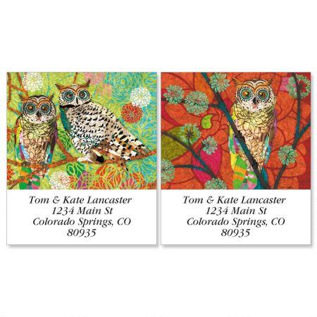 Mod Owl Select Return Address Labels  (2 Designs)