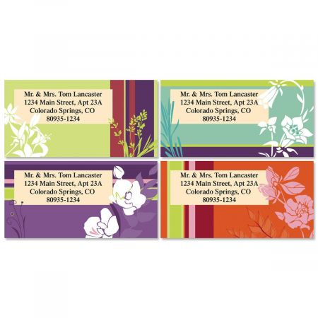 Luma Shadow Border Address Labels  (4 Designs)