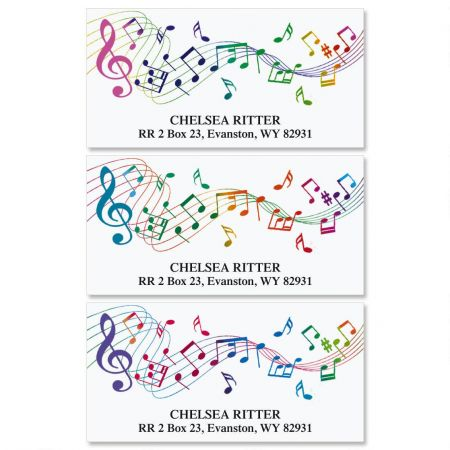 Musical  Deluxe Return Address Labels  (3 Designs)