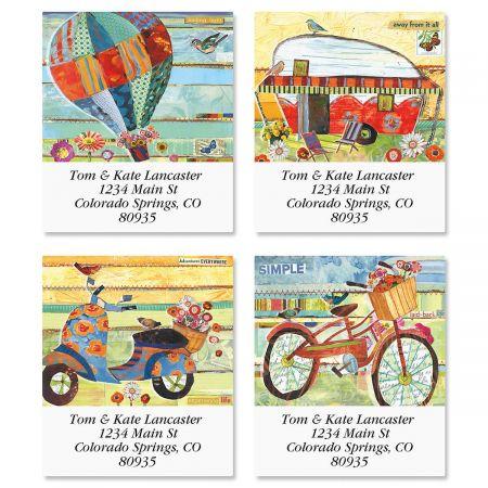 Laid Back Life Select Return Address Labels  (4 Designs)