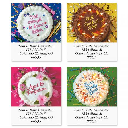 Cake Quips Select Return Address Labels  (4 Designs)