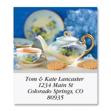 Serving Tea Select Return Address Labels  (12 Designs)