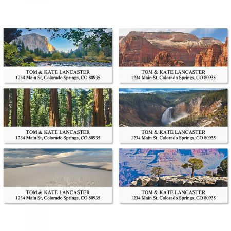 nature s landscape deluxe return address labels colorful images