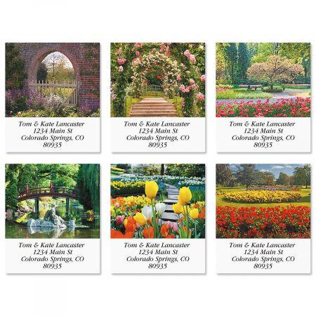 Gardens Select Return Address Labels  (6 Designs)