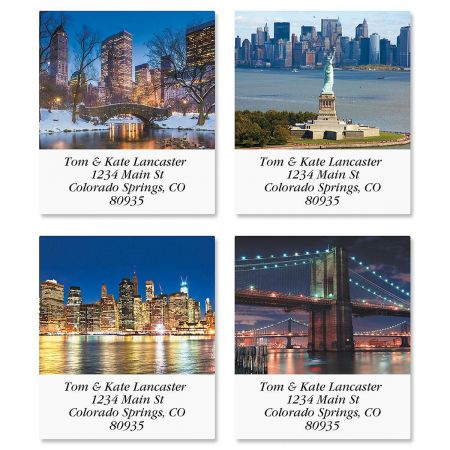New York Select Return Address Labels  (4 Designs)