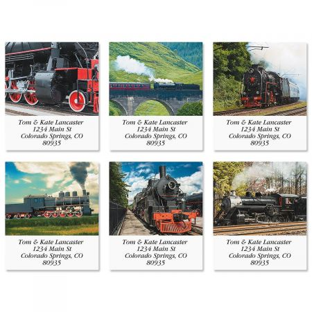 Trains Select Return Address Labels  (6 Designs)
