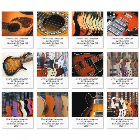 Guitars Select Return Address Labels  (12 Designs)