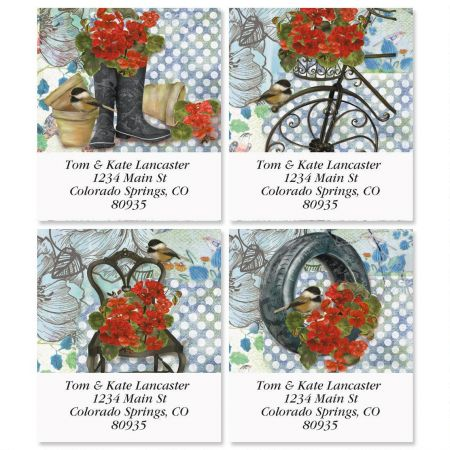 Hardy Geraniums Select Return Address Labels  (4 Designs)