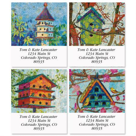 Birdhouse Village Select Return Address Labels  (4 Designs)