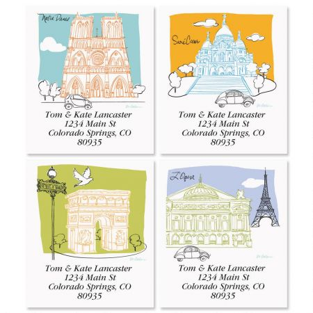 Paris Sketchbook Select Address Labels  (4 Designs)