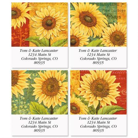 Jardin Du Soleil Select Return Address Labels  (4 Designs)