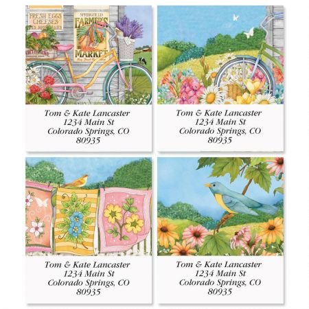 Country Life Select Return Address Labels  (4 Designs)