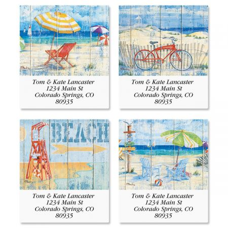 Beach Signs Select Return Address Labels  (4 Designs)