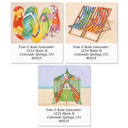 Tropical Flip-Flops Select Return Address Labels  (3 Designs)