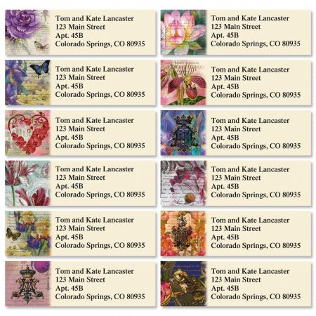 Florals of Finchley Classic Return Address Labels  (12 Designs)
