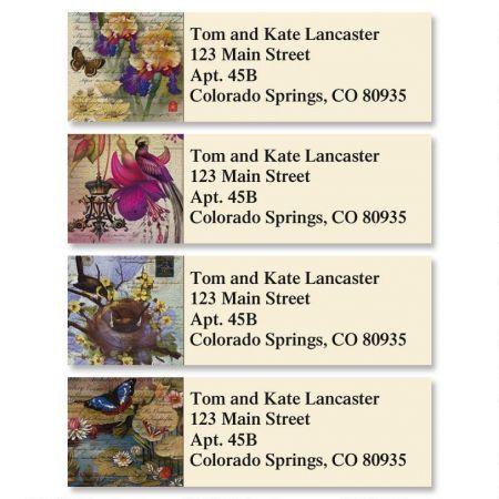 Springtime Fantasy Classic Return Address Labels  (4 Designs)