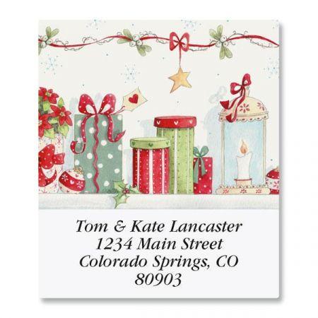 Blue Christmas Select Return Address Labels  (6 Designs)