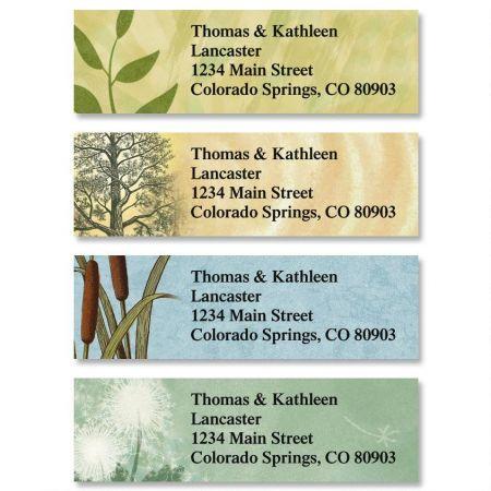 Textures Classic Return Address Labels  (4 Designs)