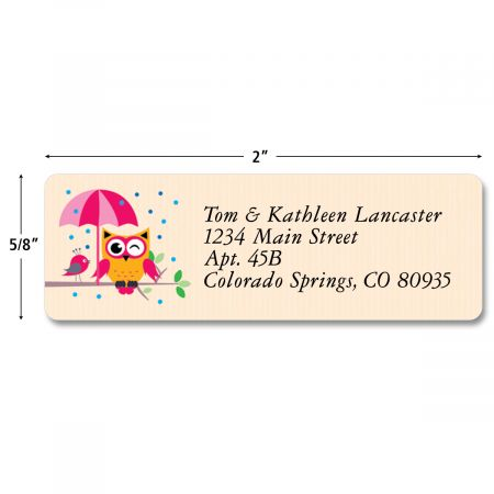 Year Round Owls Classic Return Address Labels  (4 Designs)
