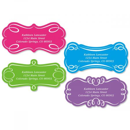 Sophisticate Diecut Return Address Labels  (4 Designs)