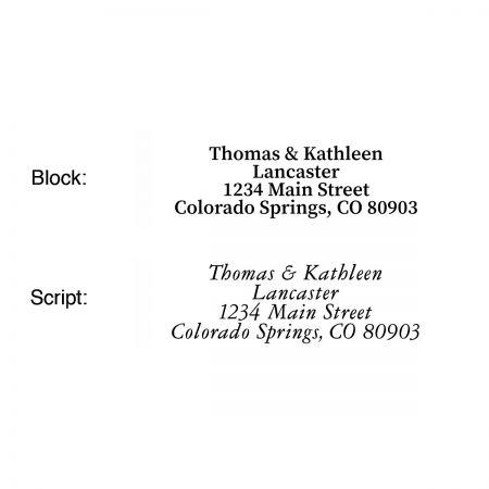 Traditions Classic Return Address Labels  (4 Designs)