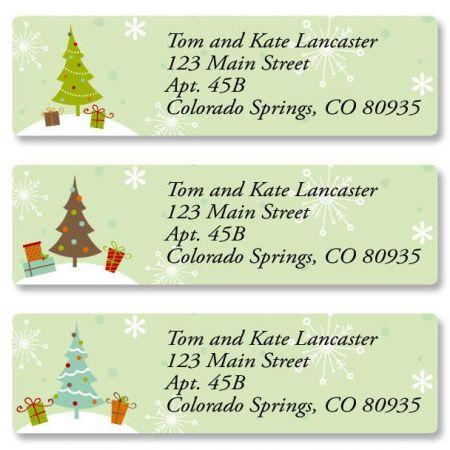 Retro Trees Classic Return Address Labels  (3 Designs)