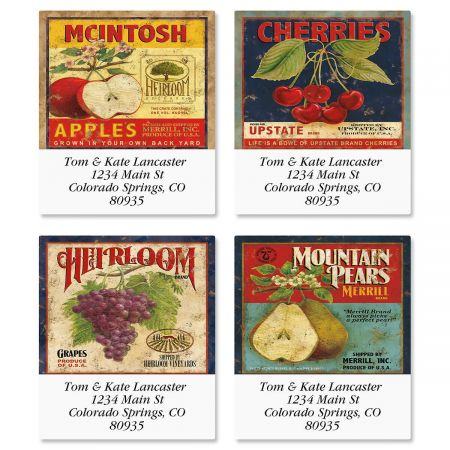 Market Fresh Select Return Address Labels  (4 Designs)