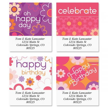 Daisy Delight Select Return Address Labels  (4 Designs)