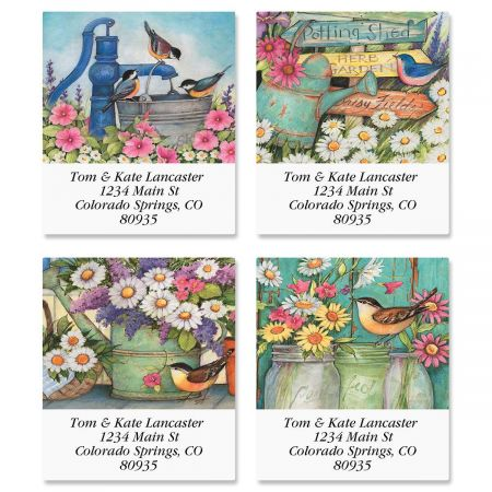 Garden Signs Select Return Address Labels  (4 Designs)