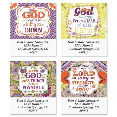Inspired Select Return Address Labels  (4 Designs)