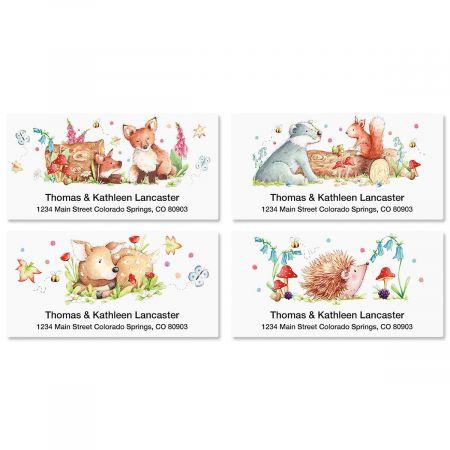 Woodland Animals Deluxe Return Address Labels  (4 Designs)