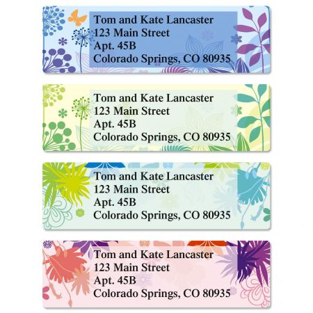 Sweet Silhouettes Classic Return Address Labels  (4 Designs)