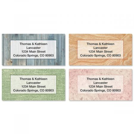 Textures Border Return Address Labels  (4 Designs)