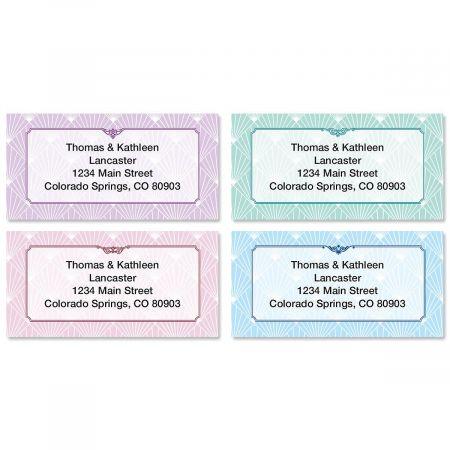 Art Deco Border Return Address Labels  (4 Designs)
