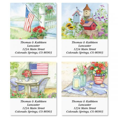 Land of Liberty Select Return Address Labels  (4 Designs)