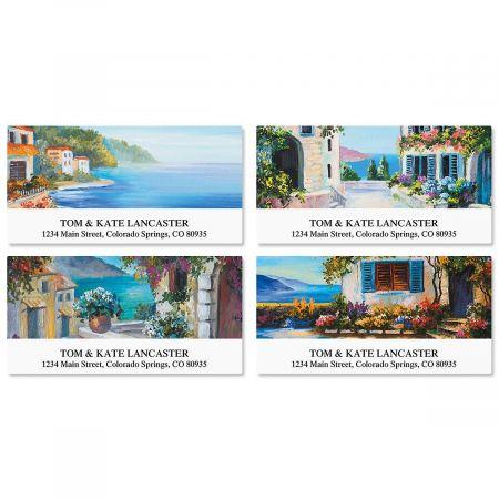 Seaside Retreat Deluxe Return Address Labels  (4 Designs)