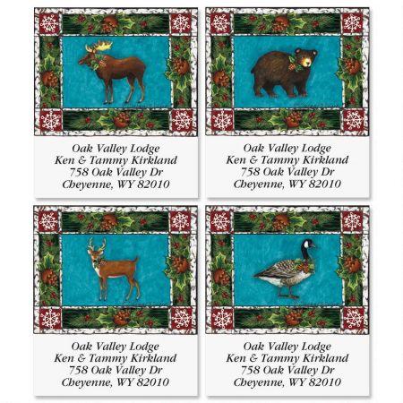 Holiday Lodge Select Return Address Labels  (4 Designs)
