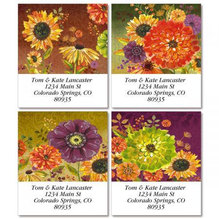 Bountiful Blooms Select Return Address Labels  (4 Designs)