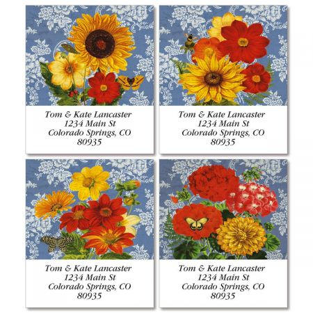 Sunflower Chambray Select Return Address Labels  (4 Designs)