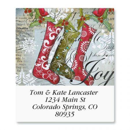Holiday Joy Select Return Address Labels  (6 Designs)