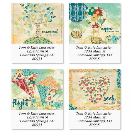 Quilted Inspiration Select Return Address Labels  (4 Designs)