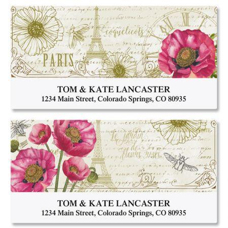 Parisian Poppies Deluxe Address Labels (2 Designs)