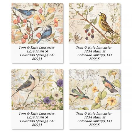 Bird Field Guide Select Address Labels  (4 Designs)