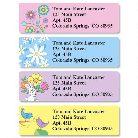 Carefree Spring Classic Return Address Labels  (4 Designs)