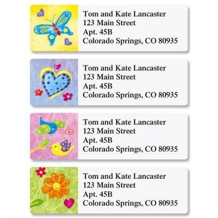Bright & Bold Classic Return Address Labels  (4 Designs)