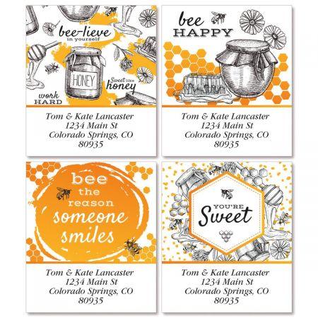Oh Sweet Honey Select Return Address Labels  (4 Designs)